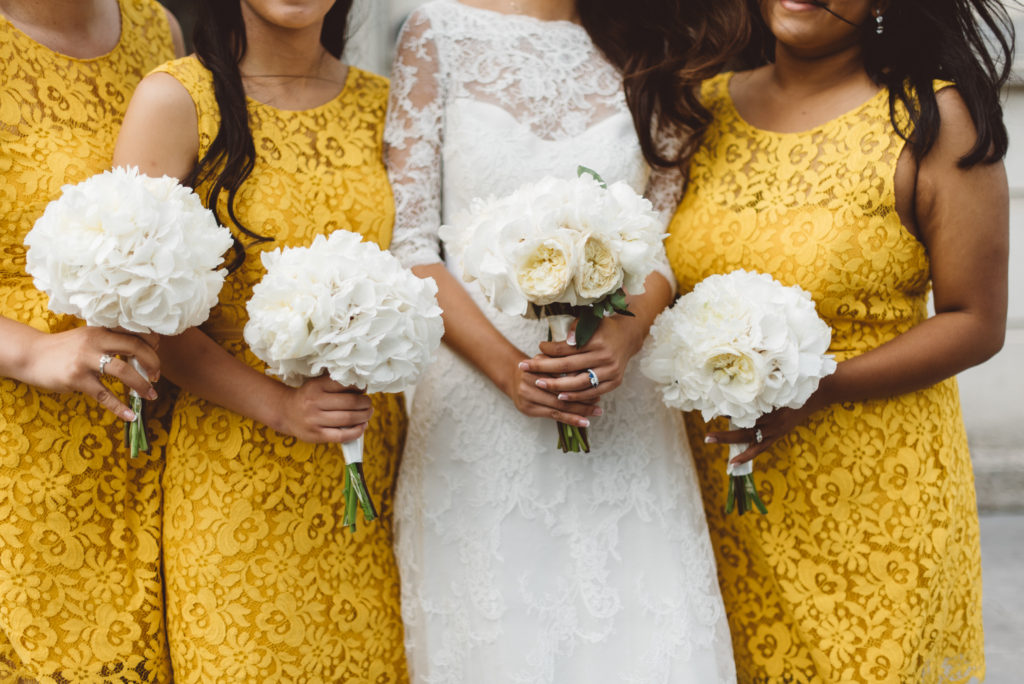 yellow bridesmaids