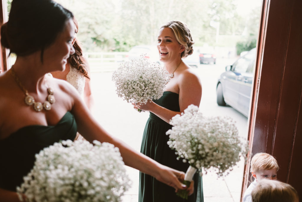 babys breath bridesmaids bouquets