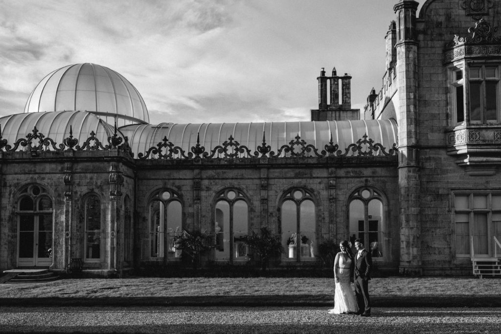castle wedding photo Ireland destination Irish Manor house