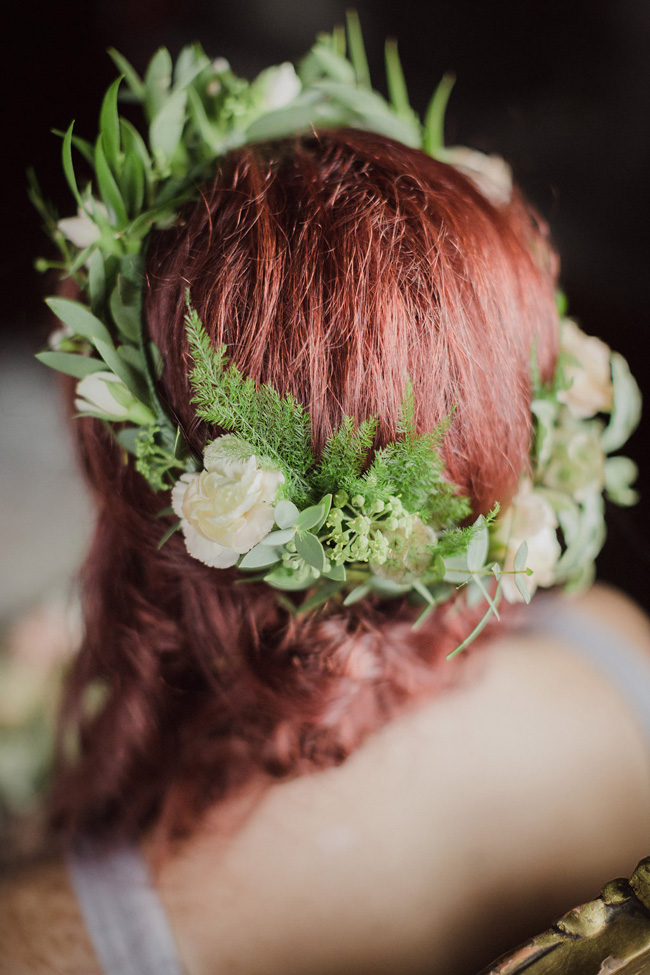 Ireland floral bridal crown