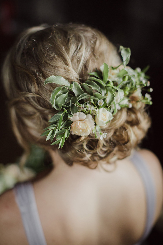 floral bridal hair piece