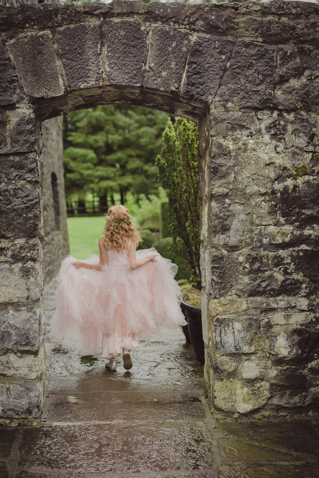 soft pink tulle flower girl ireland wedding