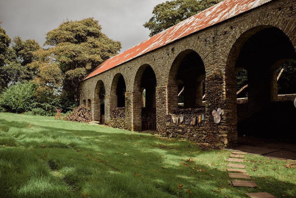 Destination wedding Ireland Irish barn wedding