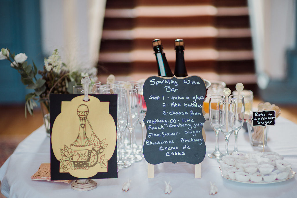 sparkling wine bar Destination wedding ireland