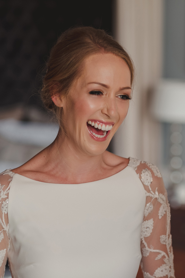 aislinn events ireland destination wedding castle bride smiling