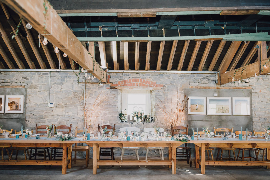 rustic soft blue wedding barn destination wedding Ireland AislinnEvents.com