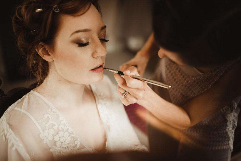 Family Fun in Glengarriff elopetoireland.com bride having her makeup applied