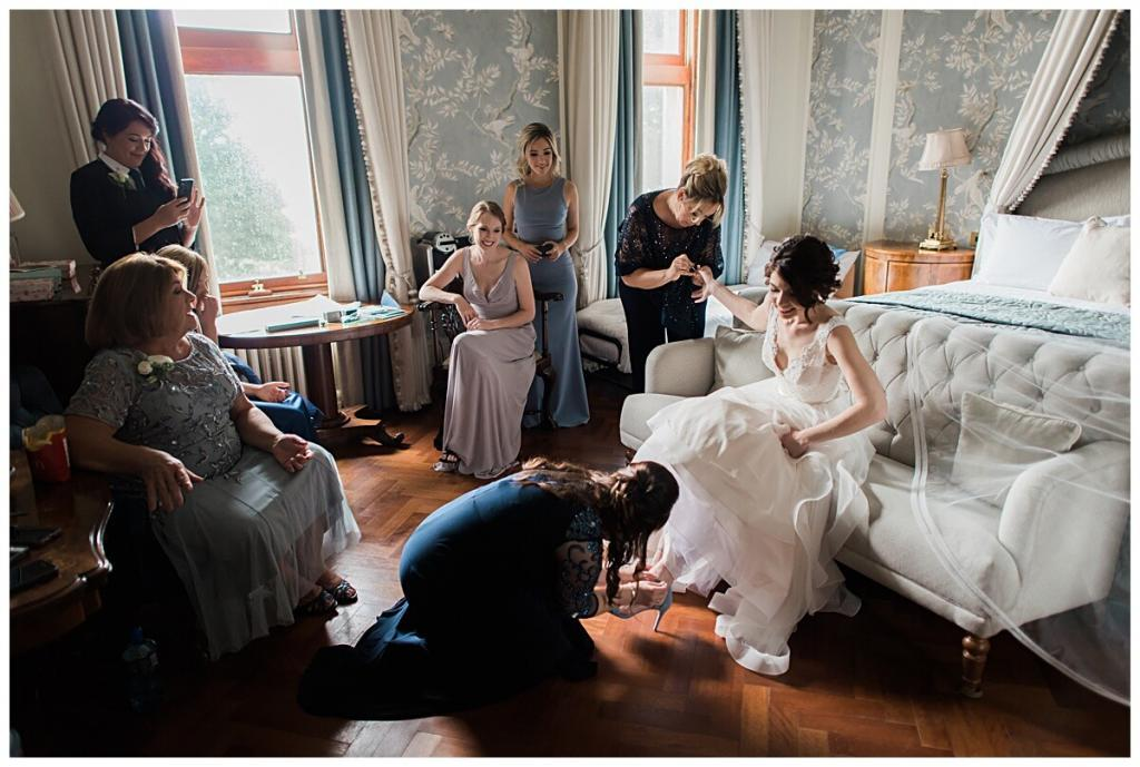 A family wedding ceremony away from home in Ireland aislinn events